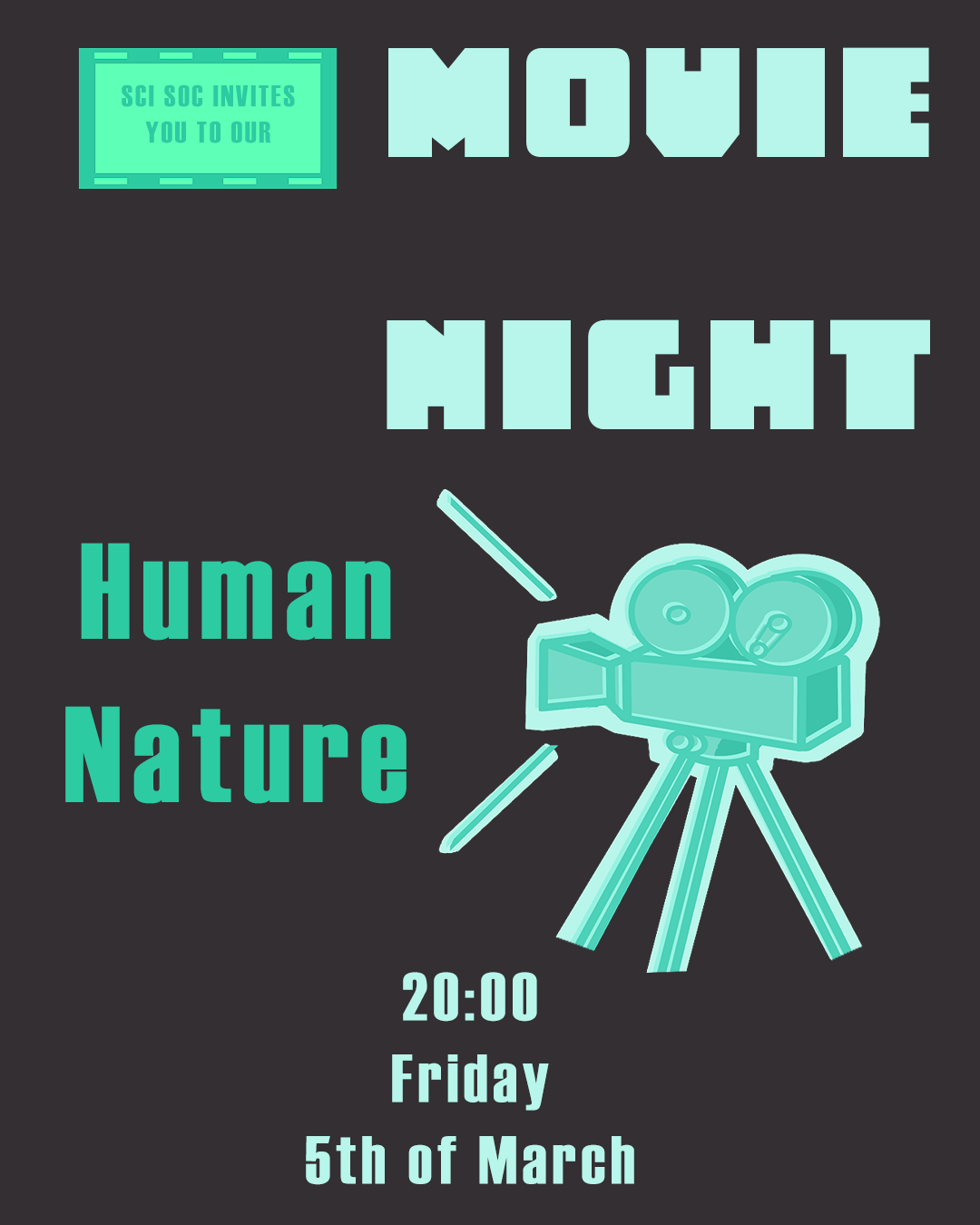 human nature movie night poster